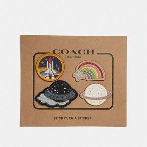 COACH NASA UFO Rocket Saturn Rainbow Stickers Set